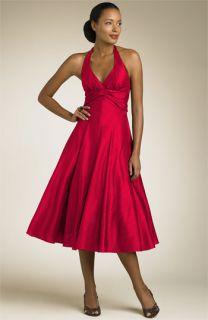 Nicole Miller Silk Dupioni Halter Dress