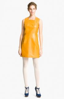 Cacharel Leather Shift Dress