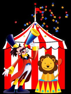 Circus Carnival Birthday Party Ticket Invitations Clown Lion