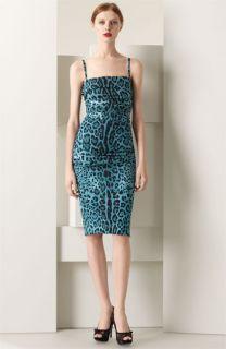 Dolce&Gabbana Leopard Print Stretch Charmeuse Dress