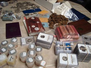 ESTATE 40 COINS COLLECTION MINT PROOF SET GRADED COIN SILVER BU PROOF