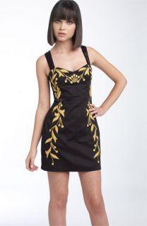 Free People Leaf Motif Stretch Cotton Dress