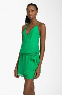 Haute Hippie Silk Halter Dress