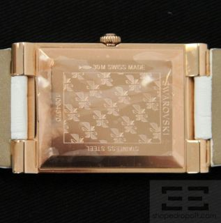 Swarovski Citra Square Crystal Rose Gold PVD Watch New
