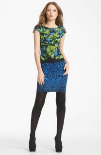 Roberto Cavalli Floral & Leopard Print Dress