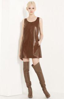 Michael Kors Leather Shift Dress