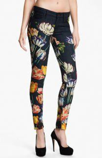 MOTHER The Looker Print Skinny Jeans (Kissed Me Floral)