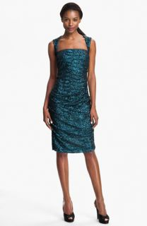 Nicole Miller Sequin Ruched Sheath Dress