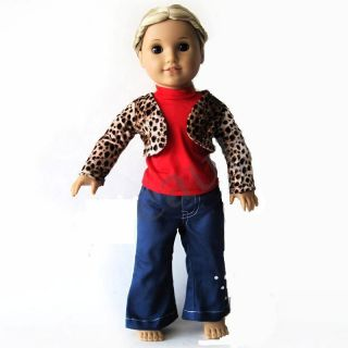 3PCs Fashion F01 Doll Clothes outfit for 18 american girl new