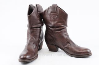 Civico 10 Brown 8 8 5 Leather Slouch Western Cowboy Boot Shoe Mismate