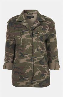 Topshop Studded Camo Jacket (Petite)