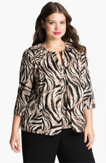 Alex Evenings Animal Print Twinset (Plus)