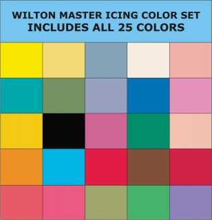Wilton All 25 Icing Colors Set 1oz Cake Decorating Food