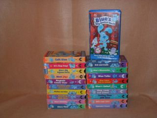 Blues Clues Big Lot of 20 VHS Videos Movie TV Show Nick Jr Blues Joe