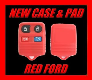 UNIQUE RED FORD LINCOLN MERCURY KEYLESS ENTRY KEY FOB COLORED CASE PAD