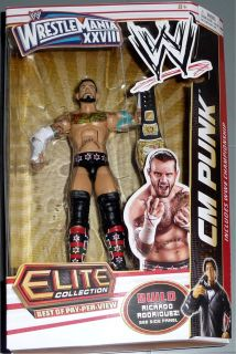 CM PUNK WWE Mattel Elite BOPPV Wrestlemania 28 Build a Ricardo