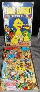 Vintage Colorforms Sesame Street Big Bird Adventure Playset