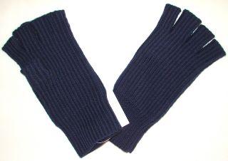 Banana Republic Acrylic Wool Fingerless Gloves Navy Blue Men