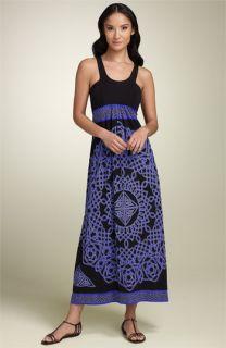 Nicole Miller Print Jersey Maxi Dress