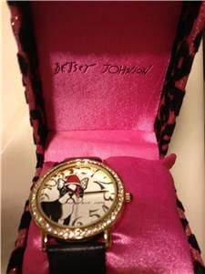 AUTH Betsey Johnson BLING PRINCESS FROG WATCH $59 USA Seller