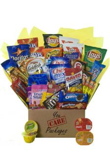 Snack Crave Care Package Food Gift Basket 42 Items College Students