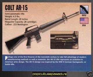 Colt AR 15 Rifle Atlas Gun Classic Firearms Card