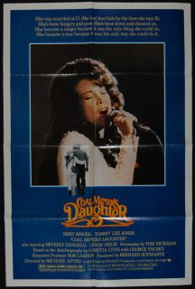 Coal Miners Daughter 1980 Sissy Spacek Movie Poster