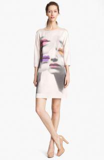 Moschino Cheap & Chic Print Silk Dress