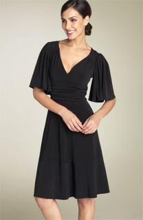 Donna Morgan Flutter Sleeve Jersey Dress