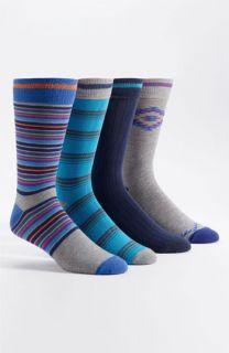 Basic Sock Patterned Socks (4 Pack)