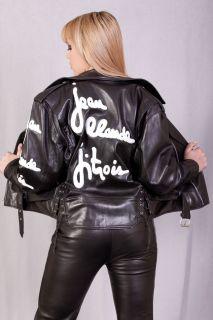 Jean Claude Jitrois Signature Lady Gaga Leather Motorcycle Jacket