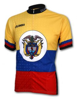 Colombia Cycling Jersey Large L Bicycle Bike Mens New