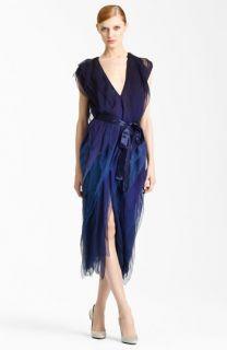 Donna Karan Collection Ombré Tissue Chiffon Dress