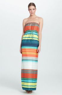 Cynthia Steffe Vivenne Stripe Silk Maxi Dress