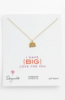 Dogeared Big Love for You Elephant Pendant Necklace