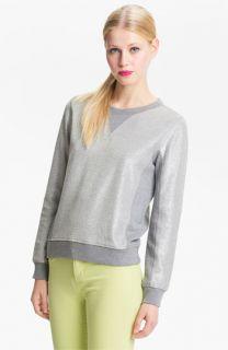 MARC BY MARC JACOBS Metallic Coated Sweatshirt