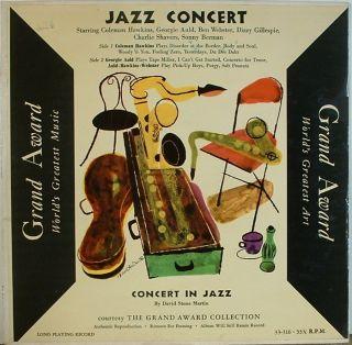 Coleman Hawkins Jazz Concert Grand Award 33 316 DSM