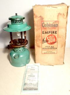 Vintage Coleman Very RARE Empire  237 Lantern 1945 Parts Repair