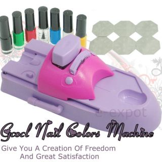 Nail Art Colors Printing Machine Polish DIY Stamper Kit