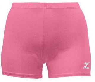 new mizuno vortex volleyball low rise shorts spandex pink adult medium