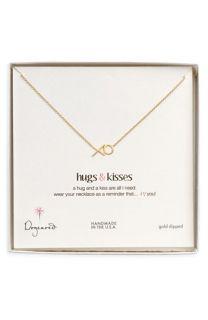 Dogeared Hugs & Kisses Pendant Necklace
