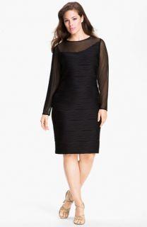 Donna  Ricco Illusion Sheath Dress (Plus)