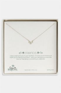 Dogeared Friends   Bow Pendant Necklace ( Exclusive)