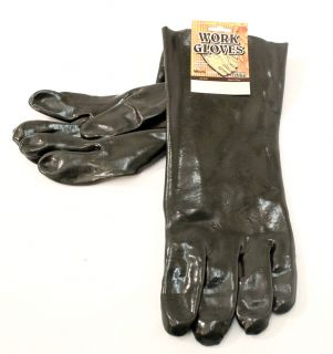 Gloves 13 Black Color Chemical Cleaning Lawn Garden Repair Gloves