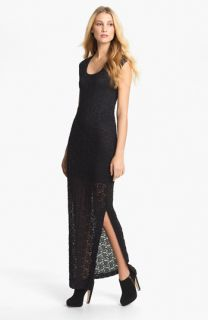 Nicole Miller Textured Lace Maxi Dress