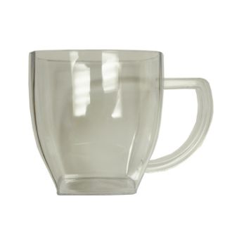 Ounce Clear Square Plastic Coffee Mugs Cups Case OF96