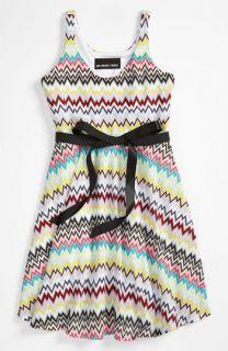 Un Deux Trois Zigzag Print Dress (Big Girls)