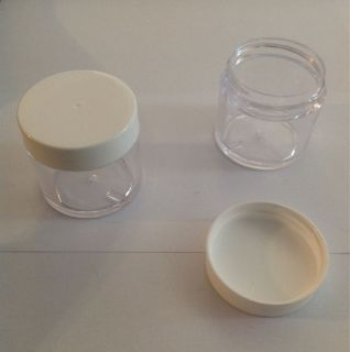 oz Clear Plastic Jars, containers,organizer cups with screw on lids