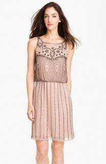 JS Collections Beaded Chiffon Blouson Dress