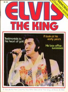 Elvis The King 1977 Tribute Mag Wellington Hall